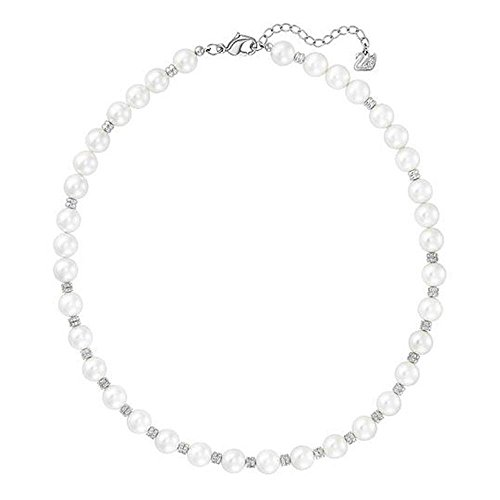 Swarovski-Collier sans pendentif enclace All Around-Collier de Perle-5200540Blanc-40cm