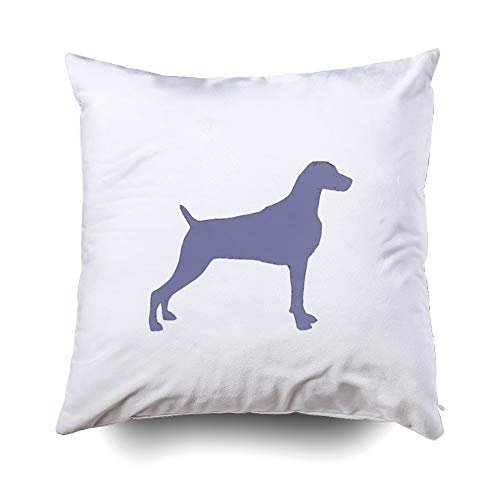EMMTEEY Home Decor Throw Pillowcase for Sofa Cushion Cover,Weimaraner silo Color png Decorative Square Accent Zippered and Double Sided Printing Pillow Case Covers 18X18Inch ()
