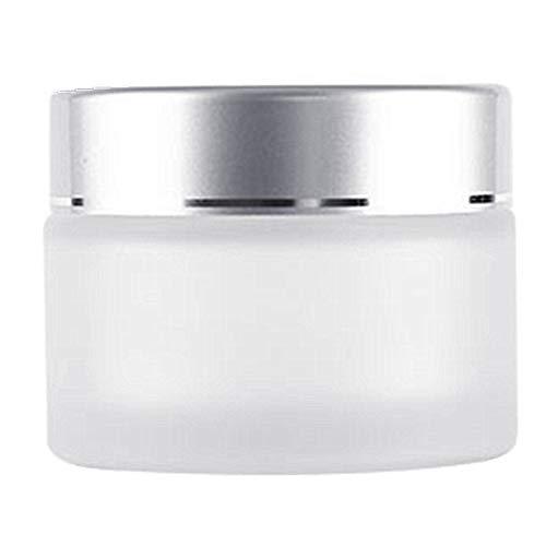 Moyishi New Matte Glass 2 oz Amber Salve Jar w/Silver Lid 4 pk