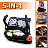 5-In-1 Child and Infant Insulated Stroller Bag & Backseat Car Storage Organizer