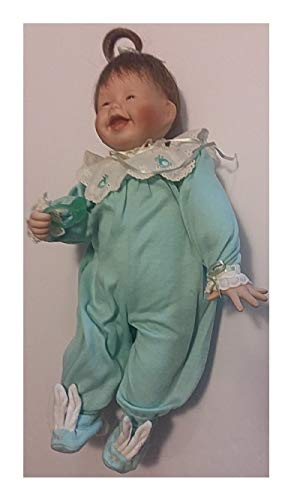 Porcelain Baby Doll with Teething Ring and Bunny Outfit (Porcelain Bunny Doll)