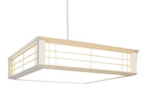 【天然木使用】オーム電機 LED和風ペンダントライト ~8畳用 リモコン式 昼光色 LT-W30D8K-K B0723CFPZV