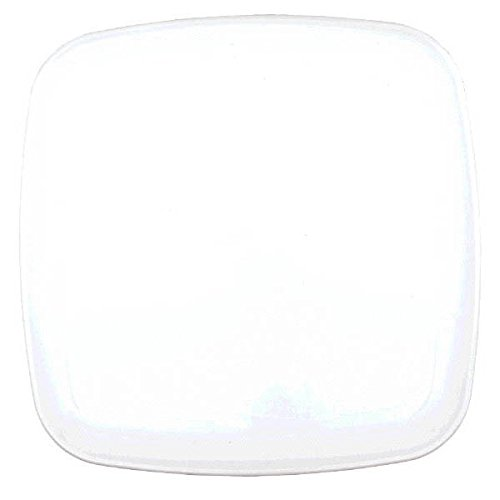 "Amscan Party Platter Food Tasting Tableware and Serveware, Plastic, Square, 14"". Childrens Plates, White, 12 Pieces"