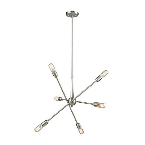 Elk Lighting 46260/6 Delphine 6 Satin Nickel Chandelier,