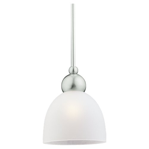 962 One Metropolis Light (Sea Gull Lighting 69034BLE-962 Single-Light Energy Star Compliant Metropolis Mini-Pendant, Satin Etched Glass Shade and Brushed Nickel)