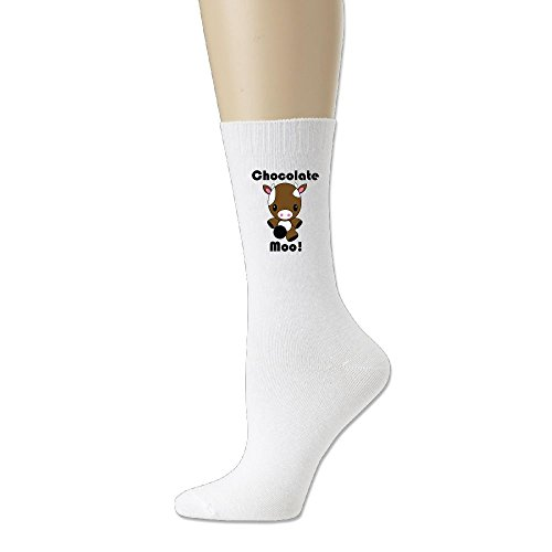 Chocolate Crocodile Faux Leather (REGOU Chocolate Moo Kawaii Cow Unisex Athletic Cotton Crew Socks White)