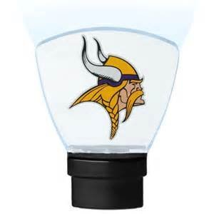 Minnesota Vikings High Tech LED Nightlight No bulbs to change lasts 10 Years by ASS