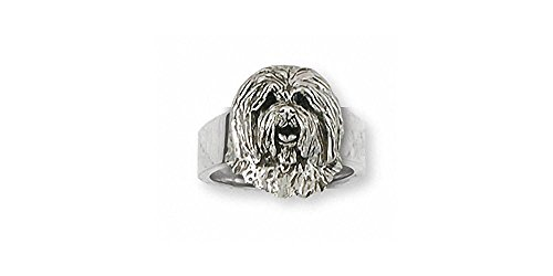 Old English Sheepdog Jewelry Sterling Silver Old English Sheepdog Ring Handmade Dog Jewelry OESH-R