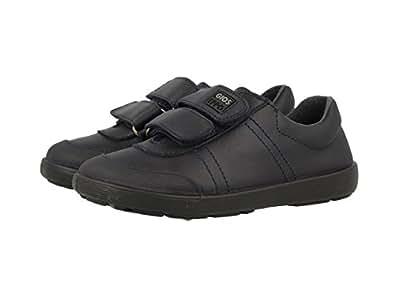 2003 Chaussures De Germes - Cuir De Chaussures Velcro Noir, Couleur Noir, Taille 38