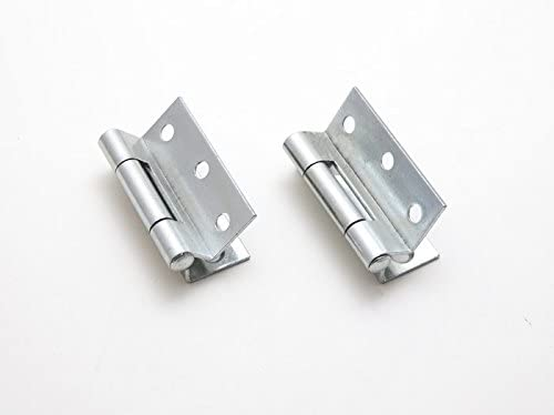 6 x PAIRS OF STORMPROOF HINGES BZP 63MM 2 1//2 INCH WITH SCREWS