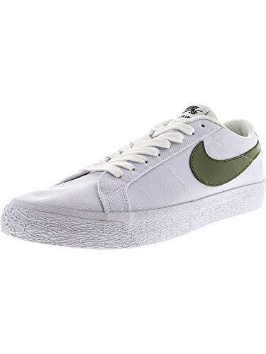 Nike Men's Sb Blazer Zoom Low Xt White Ankle-High Canvas Skateboarding Shoe - 10M