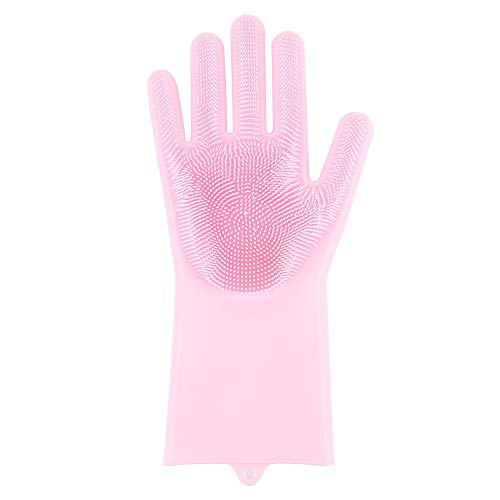 Daphot-Store - Car 2 In 1 Silicon Dish Scrubber Right Gloves Household Pet Hair Care Silicone Scrubber Brush Auto Body Exterior ()