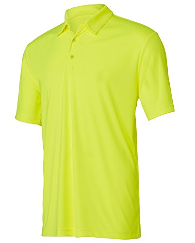 Opna Mens Dry-Fit Golf Polo Shirts,Yellow,Large