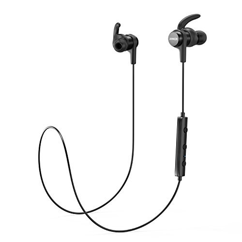 Anker SoundBuds Flow Lightweight Wireless Headphones, Bluetooth 4.1 Sports Earphones with Water-Resistant Nano Coating, Running Workout Headset with Magnetic Connector and Remote AK-A3234011