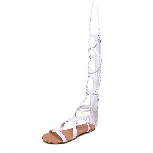5 Blanc Femme Plateforme Blanc AdeeSu Sandales 36 nR1fqEYTWw