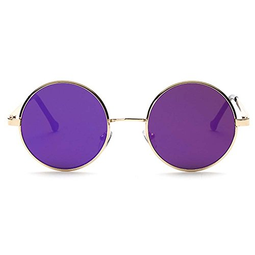 LOMOL Fashion Retro Classic UV Protection Round Plane Colorful Lens Driving - Prices Www.ray-ban Sunglasses