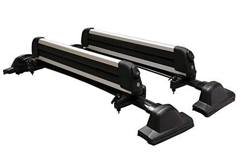 BRIGHTLINES Crossbars & Ski Rack for 6 Skis 4 Snowboards Combo Compatible with 2007-2011 Honda CRV