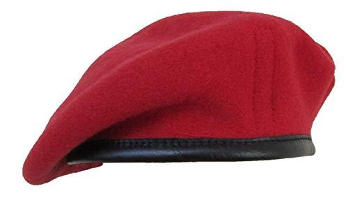 Diseño militar de pareja de boinas de alta calidad - British Made - 100% de la unidad de lana colores en todas las Red (Royal Military Police)