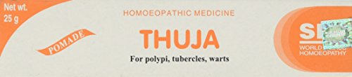 THUJA HOMEOPATHIC CREAM Ointment For Polypi, Tubercles and Warts, Net Wt. 25g.