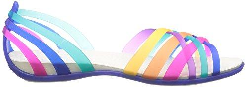 Sandales Blue Femme Huarache Crocs cerulean multi Multicolore SwPWC8q