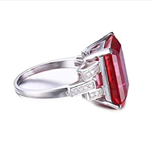 Pigeon Blood Red Ruby 925 Sterling Silver
