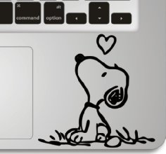 Snoopy Macbook Keyboard Wrist Decal product image