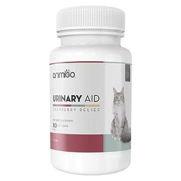 Animigo Ayuda Urinaria para Gatos - 60 Suplementos Masticables de Arándanos: Amazon.es: Productos para mascotas