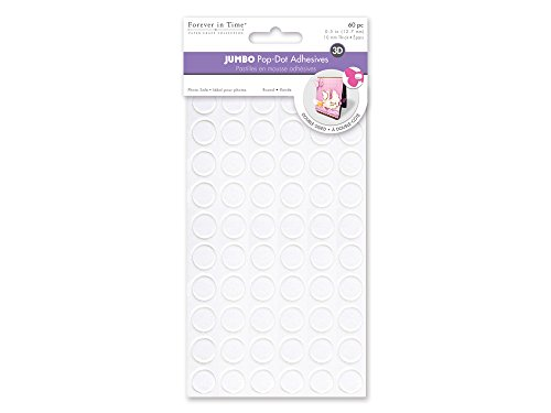 Forever in Time PD304B Jumbo Round Dual-Adhesive Foam Mounts, 0.5in, 60Pc (Round Adhesive Foam Dual)
