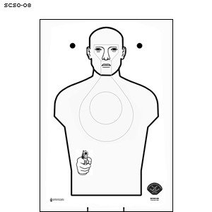 SCSO-08 CARDBOARD TARGET 50 PACK by Law Enforcement Targets