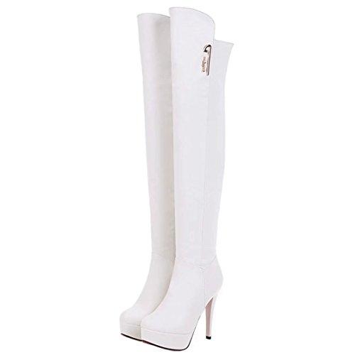 Boot Classic Bianco Donna Da Aiyoumei wUzqTac