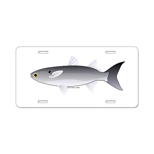 (CafePress - Black Mullet Fish - Aluminum License Plate, Front License Plate, Vanity Tag)