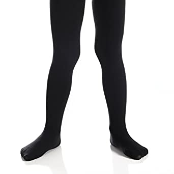 Opaque Solid Seemless Footed Leggings Top Fit Socks Girls Microfiber Tights