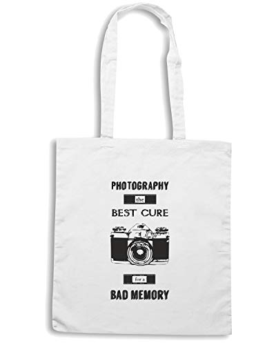 Speed Shirt Borsa Shopper Bianca CIT0182 PHOTOGRAFY THE BEST CURE FOR A BAD MEMORY
