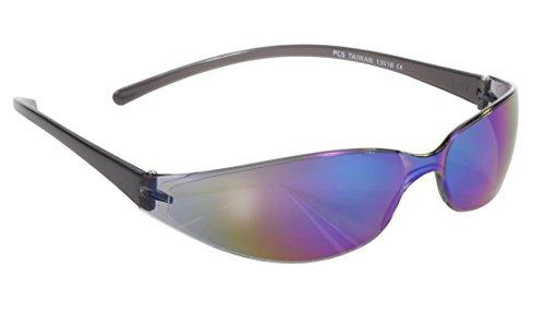 Pacific Coast Skinny Joes Slim Glasses (Black Frame/Color Mirror Lens) ()