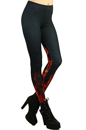 World of Leggings Flame Leggings