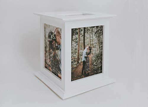 Wedding Card Box - Rotating The Perfect Card Box In White