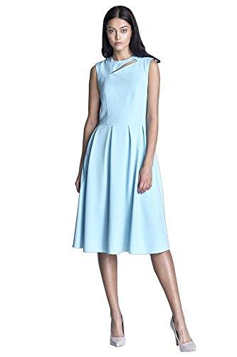 Nife Nife Hellblau Kleid Damen Damen rTpqwrz
