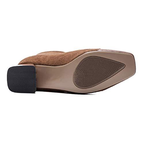mode sauvage et Zpedy européen femmes confortable quotidien pour caramel bottines chaussures style américain fqx8RqzY
