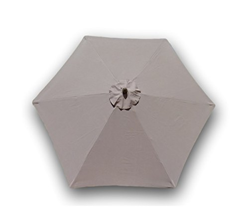 9ft Umbrella Replacement Canopy 6 Ribs in Taupe (Canopy Only)