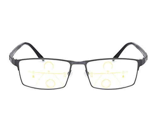Brown Tamaño de Color 2 Gafas Hombres Material prevención Lectura de la Ultraligero Lens de de Gray decoloradas Zoom Sol lectores DAFREW para 25X Fatiga Inteligente Gafas BHZAfqgwg