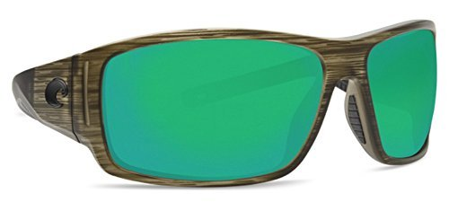Costa Del Mar Cape Sunglasses Bowfin/Green Mirror (Mens East Cape)