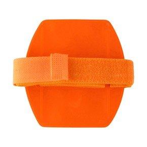 Orange Armband Badge Holder - Vertical (Non-Reflective)