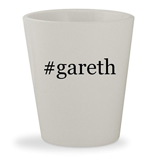 #gareth - White Hashtag Ceramic 1.5oz Shot - Hughes Facebook Robert