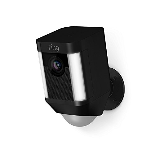 Ring Spotlight Cam Battery, HD Rechargeable Two Way Security Camera Black