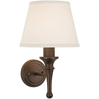 braidy bronze with copper highlights plugin sconce