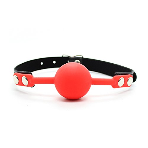 MyCHIC Open Breathable Leather Paly Ball for Men Women (Red)