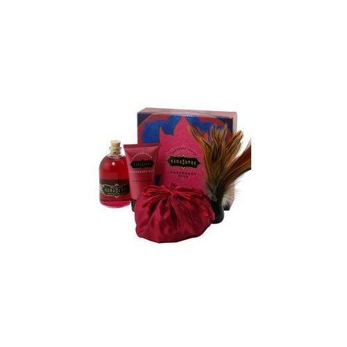 Kama Sutra Treasure Trove Gift Tin - Full Sized Honey Dust, Oil or Love & Pleasure Balm, Raspberry Kiss