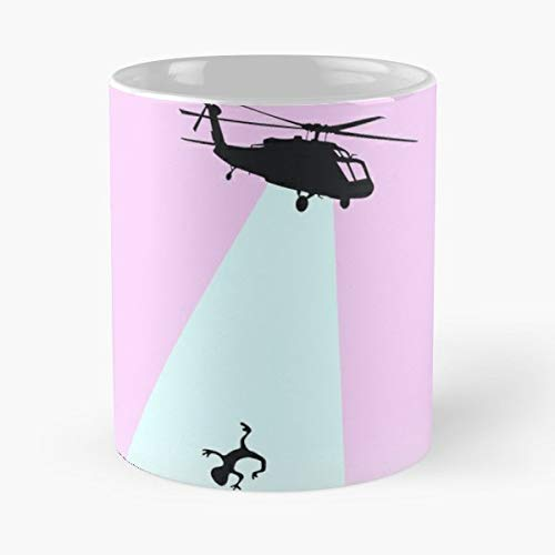 Helicopter Copter Chopper Et - 11 Oz Coffee Mugs Unique Ceramic Novelty Cup, The Best Gift For ()