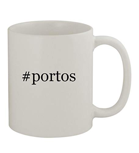 #portos - 11oz Sturdy Hashtag Ceramic Coffee Cup Mug, White