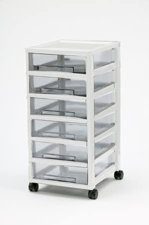 Cassettiere Plastica Con Ruote.Iris Ohyama Europe Cassettiera Con Ruote Plastica Cassettone Con